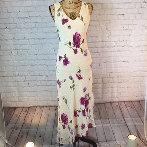 Donna Ricco floral double V-neck sheath dress